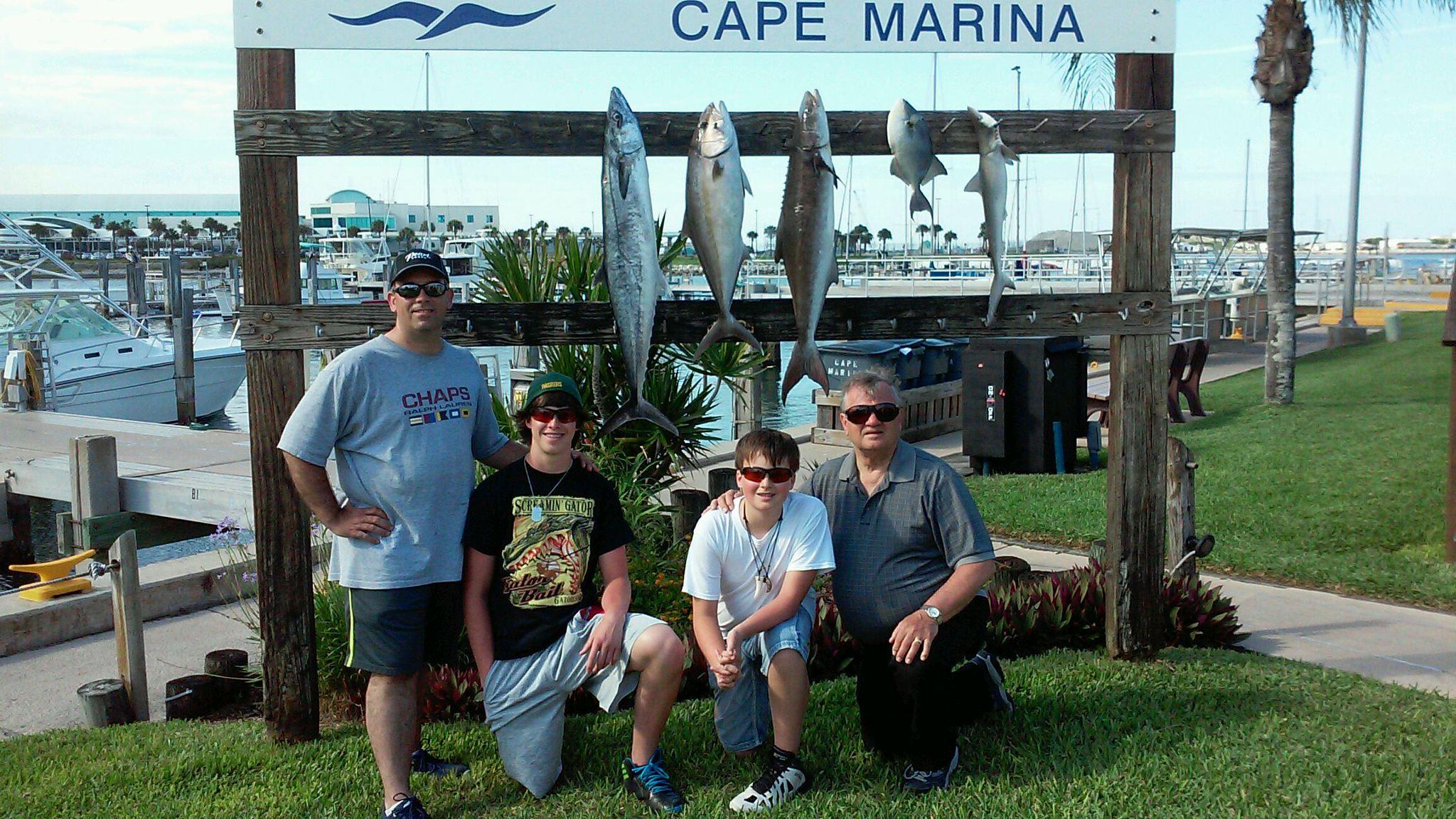 Ofishal Business King Mackerel, Cobia, Trigger Fish and a Shark!